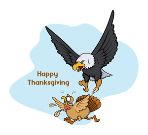 Eagle Hunting Turkey Vector