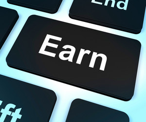 Earn Computer Key Showing Working And Earning