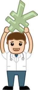 Earn Money - Doctor & Medical Character Concept