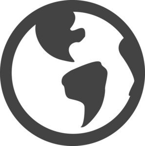 Earth Glyph Icon