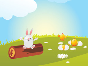 Easter Background With Beautiful Concept
