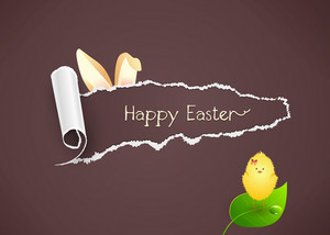 Easter Background With Bird Vector Illustration