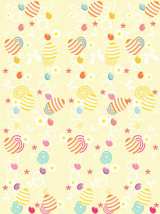Easter Background With Cute Artwork