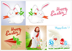 Easter Backgrounds Vectors