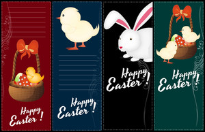 Easter Banners Vectors