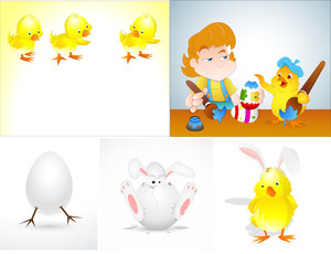 Easter Characters Vectors