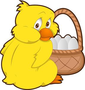 Easter Chicken - Cartoon Character