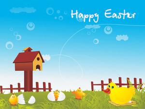 Easter Chicken Family