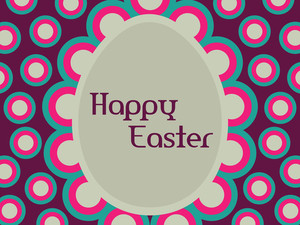 Easter Day Background With Circle
