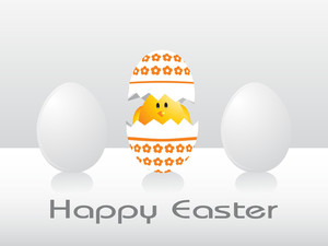 Easter Day Background With Egg