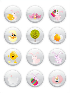 Easter Day Icons Illustration