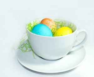 Easter Eggs In Cup