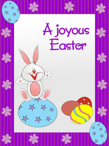 Easter Floral Frame With Nice Background