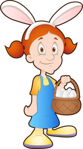 Easter Girl - Cartoon Character