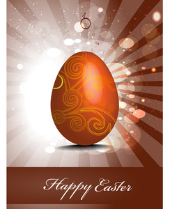 Easter Greeting Card With Bokeh Effect.