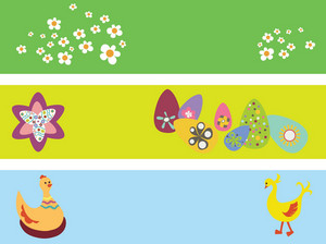 Easter Illustration Of Tree Web Banners
