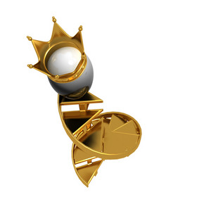 Easter King Egg With Golden Crown