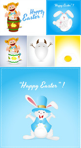Easter Vector Backgrounds