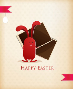 Easter Vector Illustration Easter Bunny And Photo Frame