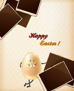 Easter Vector Illustration With Easter Egg And Photo Frames