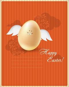Easter Vector Illustration With Easter Egg