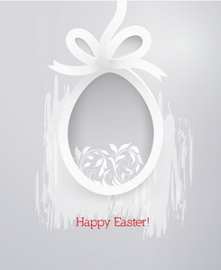 Easter Vector Illustration With Sticker Easter Egg