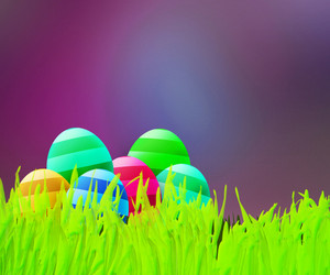 Easter Violet Background