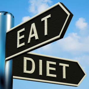 Eat Or Diet Directions On A Signpost