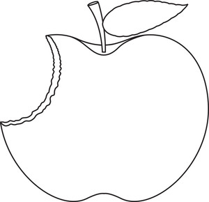 Eaten Apple Drawing