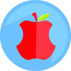 Eaten Apple Icon