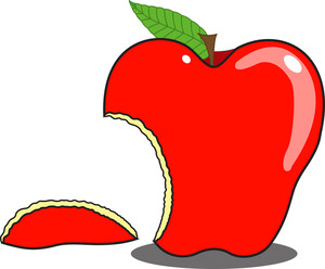 Eaten Apple Shape Vector