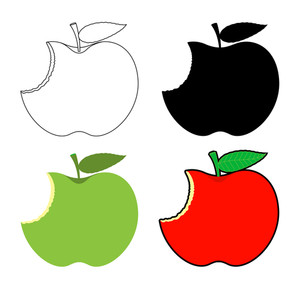 Eaten Apples Designs Set