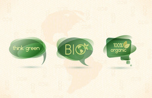 Eco Chat Bubbles Vector Illustration