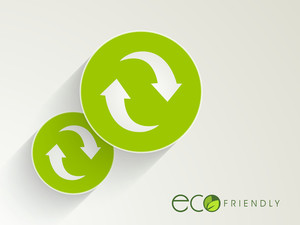 Eco Friendly Concept With Recycle Icon