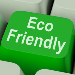Eco Friendly Key Shows Green And Environmentally Efficient