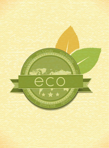 Eco Friendly Label Vector Illustration