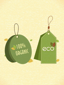 Eco Friendly Labels Vector Illustration