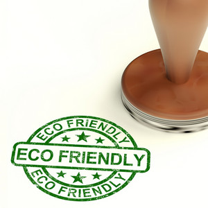Eco Friendly Stamp As Symbol For  Recycling And Environment