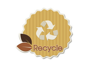 Eco Sticker Vector Illustration