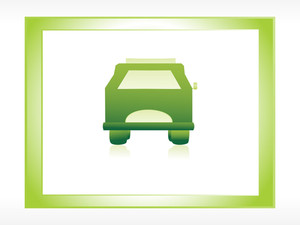 Ecology Green Car In Frame