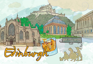 Edinburgh Doodles Vector Illustration