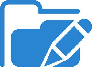 Edit Folder Simplicity Icon