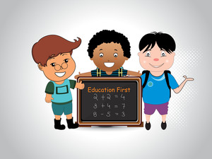 Education Background With Cute Student