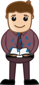 Education Concept - Explore Knowledge Concept - Vector Character Cartoon Illustration
