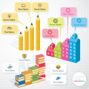 Education Infographic Template And Design Element Set. Vector.