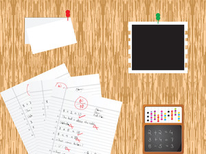 Education Supplies With Background