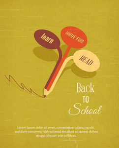 Education Vector Illustration With Tree (editable Text)