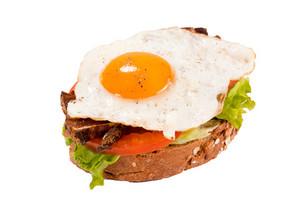 Egg Sandwich Isolated