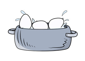 Eggs Basket Vector