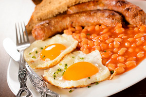 Eggs, Beans And Sausage